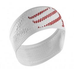 Bandeau Compressport Headband White