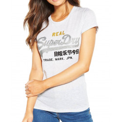 T-shirt Superdry Vintage Logo Tri Entry Ice Marl