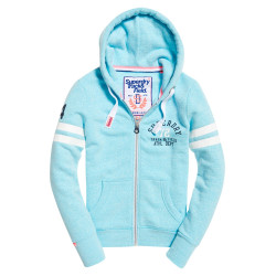 Sweat Superdry Track & Field Bolt Teal Snowy