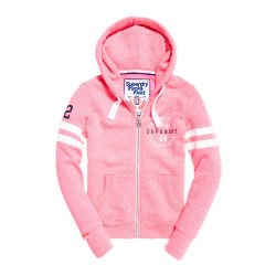 Sweat Superdry Track & Field Winning Pink Snowy