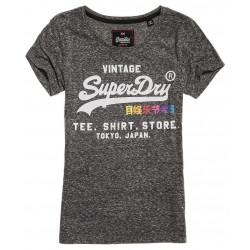 T-shirt Superdry Rainbow Pop Noir Black Snowy