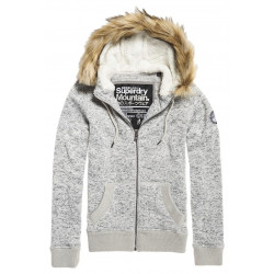 Sweat à Capuche Superdry Storm Zip Fur Fargo Grey