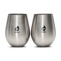 Tasses Mizu Wine Cup Set 500 ML Stainless Black