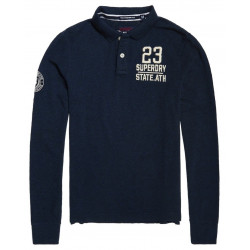 Polo Superdry Classic L/s Expedition Navy Blue
