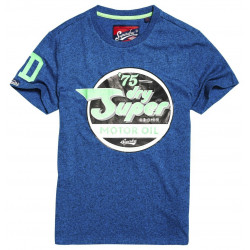 T-shirt Superdry Reworked Classic Azure Blue Grit