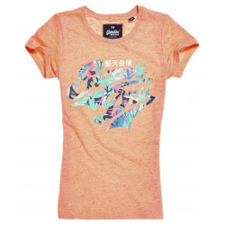 Tshirt Superdry Stacker Infill Entry Phospho Coral