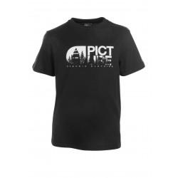 T-shirt Picture Organic Basement Tree Black