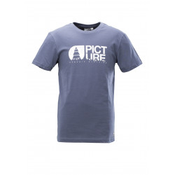T-shirt Picture Organic Basement Topo Dark Blue