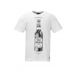 T-shirt Picture Organic Beer Can White