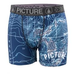 Boxer Picture Organic Topographic Bleu