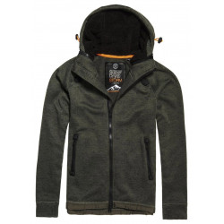 Sweat Capuche Superdry Storm Double Zip Olive