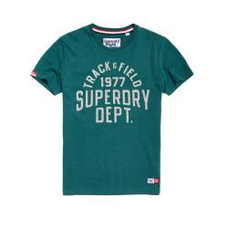 T-shirt Superdry Trackster Jade Marl Grit
