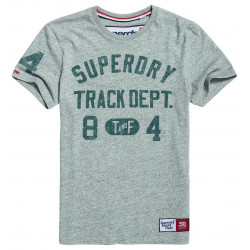 T-shirt Superdry Trackster Track Grey Grit