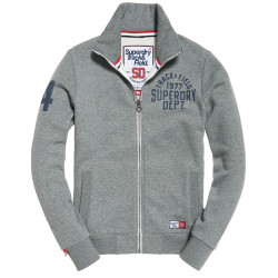 Sweat Superdry Trackster Track Top Charcoal Grit