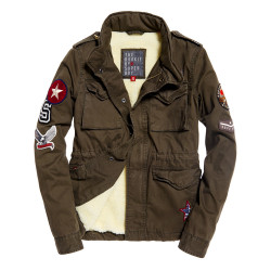 Veste Superdry Winter Rookie Military Patch Olive