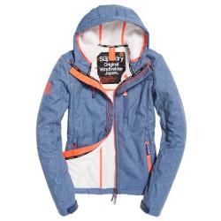 Veste Superdry Hooded Sherpa Windtrekker Navy Marl