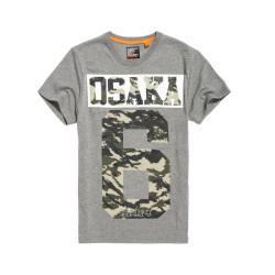 T-shirt Superdry Osaka 6 Camo Dark Marl