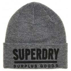 Bonnet Superdry Surplus Goods Logo Grey / Black