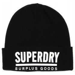 Bonnet Superdry Surplus Goods Logo Black / White