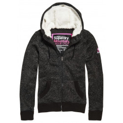 Sweat à Capuche Superdry Storm Zip Black Gritty