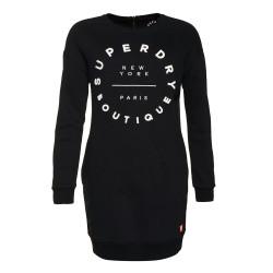 Robe Superdry Graphic Sweat Dress Black