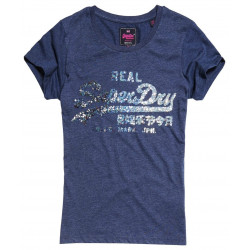 T-shirt Superdry Vintage Logo Sequin Entry Blue