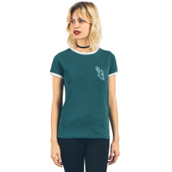 T-Shirt Volcom Lets Go Ringer Tee Midnight Green
