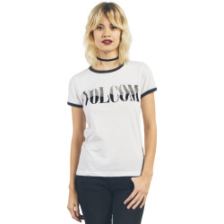 T-Shirt Volcom Lets Go Ringer Tee White