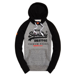 Sweat à Capuche Superdy Premium Goods Raglan Grey
