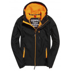 Veste Superdry Hooded Windtrekker Black / Orange
