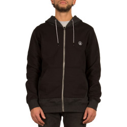 Sweat à Capuche Volcom Backronym Zip Black