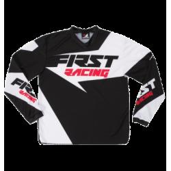 Maillot de VTT / Moto First Racing Data 2017 Noir