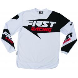 Maillot VTT / Moto First Racing Data 2017 Blanc