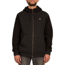 Sweat Volcom Sngl Stn Lined Zip Asphalt Black