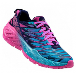 Chaussures De Running Hoka One One Clayton 2 Blue Fushia
