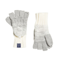 Gants Superdry Clarrie Cable Glove Light Grey