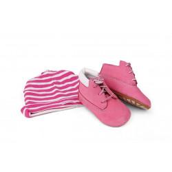 Coffret Chaussures Timberland Crib Bt Hat Pink