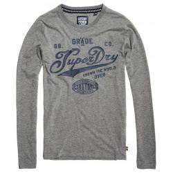 T-shirt Superdry Grade A Tee Dark Marl / Navy