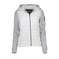 Sweat à Capuche Superdry Storm Hybrid White / Grey