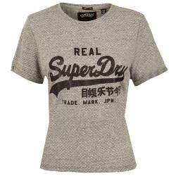 T-shirt Superdry Vintage Logo Boxy Grey Dot Print
