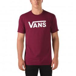 T-shirt Vans Classic Burgundy / White