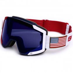 Masque De Ski Briko Lava 7.6 Ussa Red Blue White