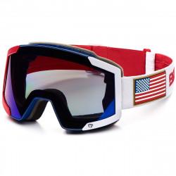 Masque De Ski Briko Lava 7.6 2 Lenses Red Blue