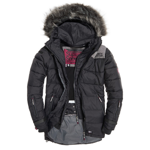 veste de ski superdry alpine attitude black precision ski. Black Bedroom Furniture Sets. Home Design Ideas