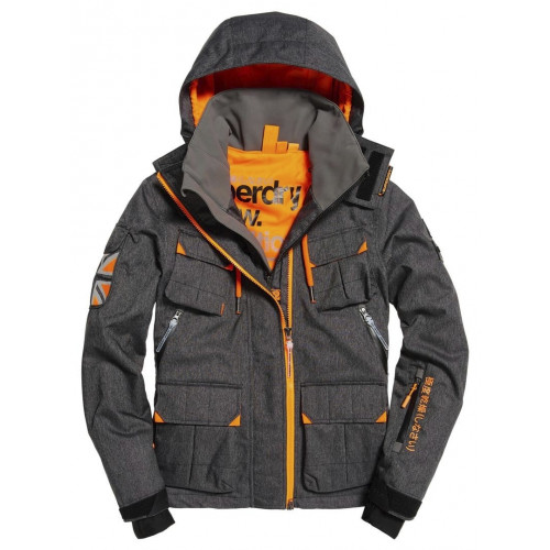 veste de ski superdry ultimate snow service black precision ski. Black Bedroom Furniture Sets. Home Design Ideas