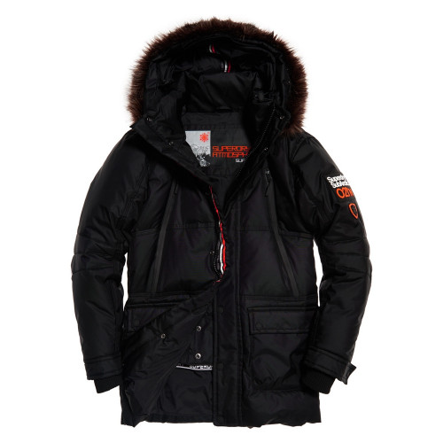 veste de ski superdry parka canadian down black precision ski. Black Bedroom Furniture Sets. Home Design Ideas