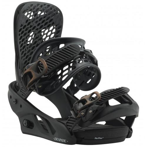 fixation de snowboard burton escapade black n 39 bronze. Black Bedroom Furniture Sets. Home Design Ideas