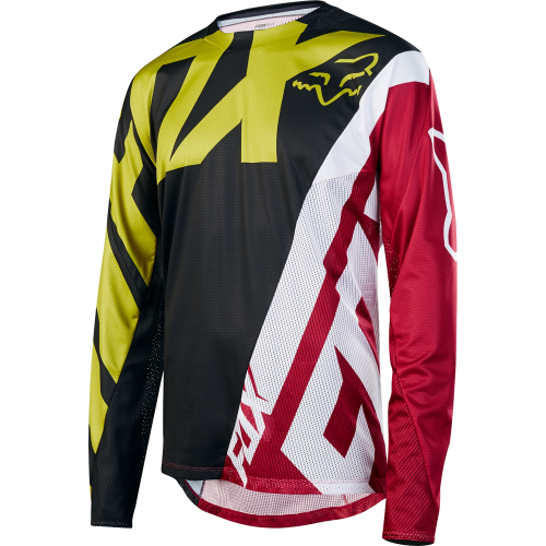 maillot de vtt fox demo jersey yellow black precision ski. Black Bedroom Furniture Sets. Home Design Ideas