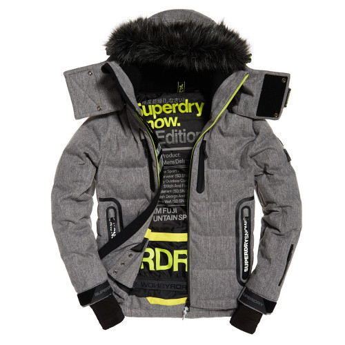veste de ski superdry deluxe nordic snow carbon precision ski. Black Bedroom Furniture Sets. Home Design Ideas