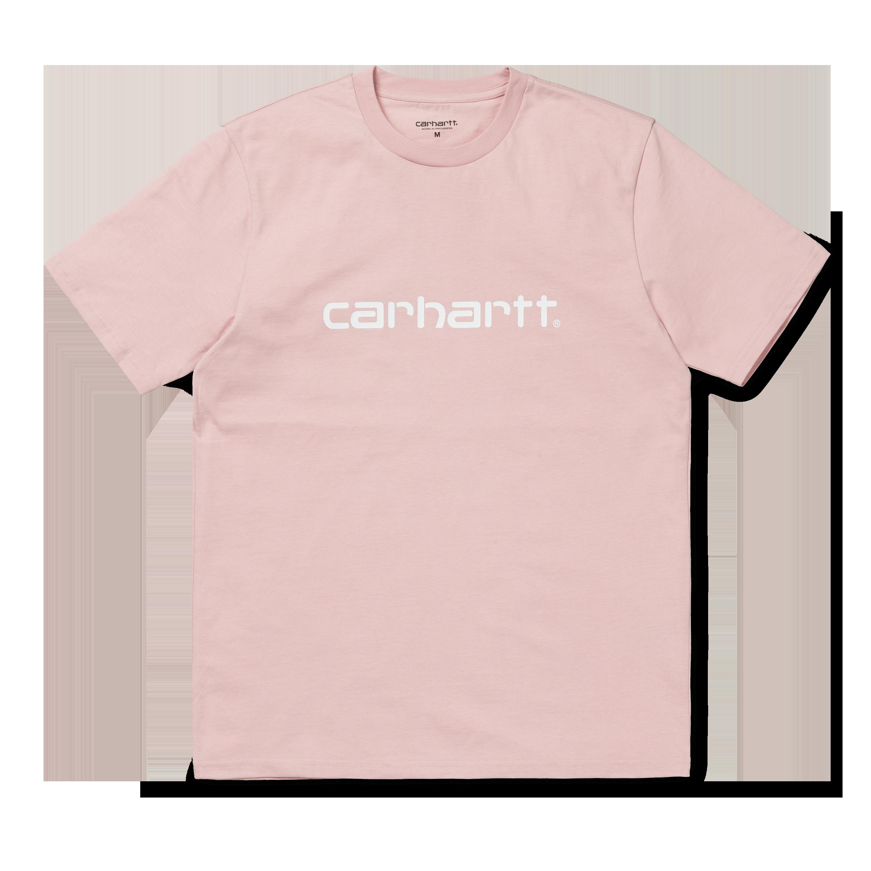 T shirt Carhartt Ss Script Sandy Rose White